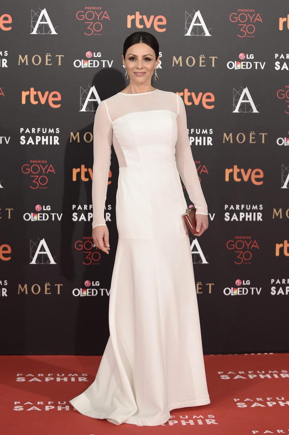 Ana Álvarez en la alfombra roja de los Premios Goya 2016