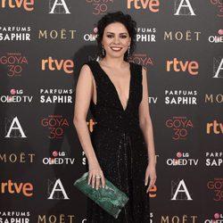 Ana Arias en la alfombra roja de los Premios Goya 2016