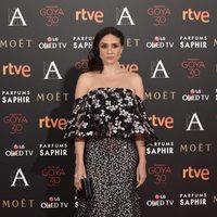 María Botto en el alfombra roja de los Premios Goya 2016