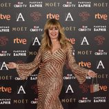 Miriam Díaz-Aroca en la alfombra roja de los Premios Goya 2016