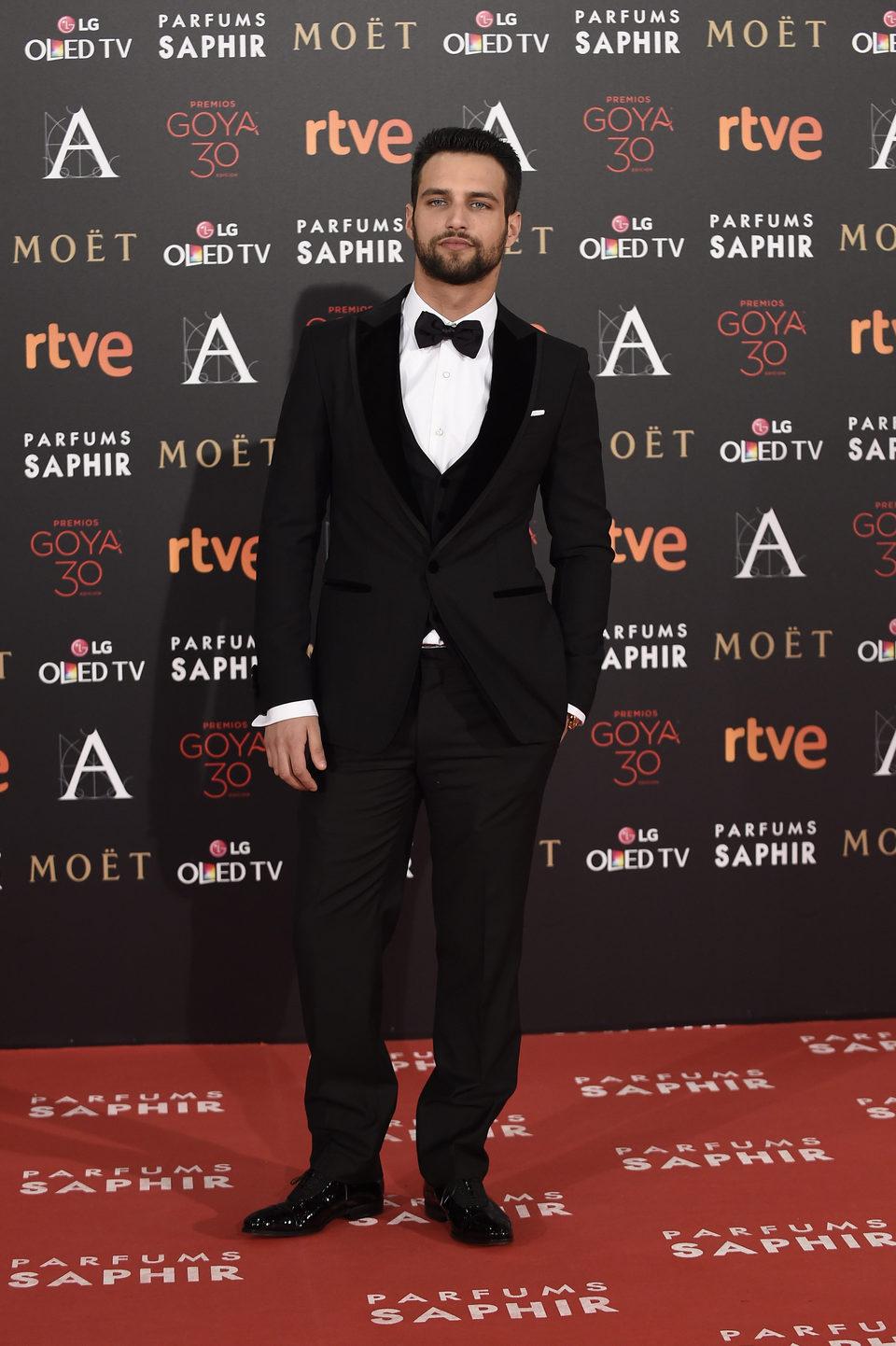 Jesús Castro en la alfombra roja de los Premios Goya 2016