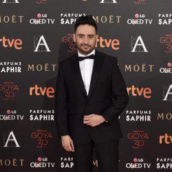 Juan Antonio Bayona en la alfombra roja de los Premios Goya 2016