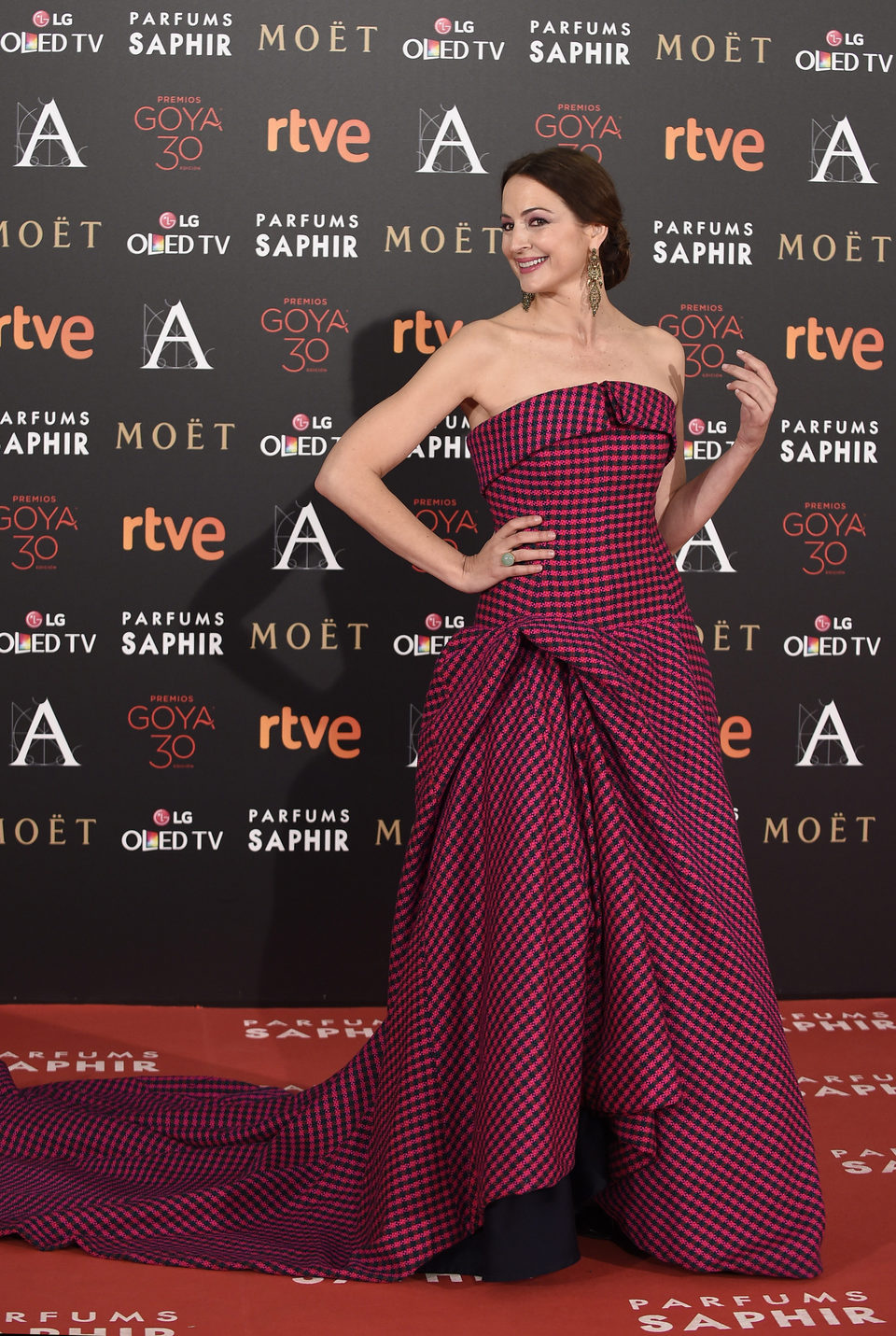 Cuca Escribano en la alfombra roja de los Premios Goya 2016