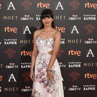 Mariam Bachir en la alfombra roja de los Premios Goya 2016