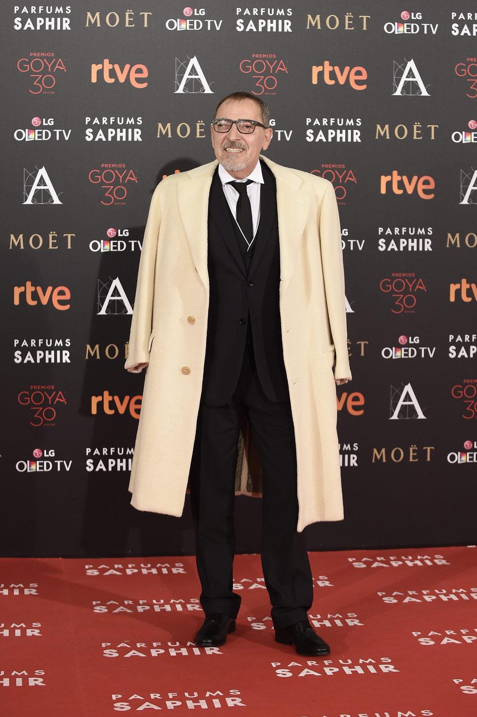 Enrique Villén en la alfombra roja de los Premios Goya 2016