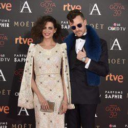 Macarena Gómez y Aldo Comas en la alfombra roja de los Premios Goya 2016