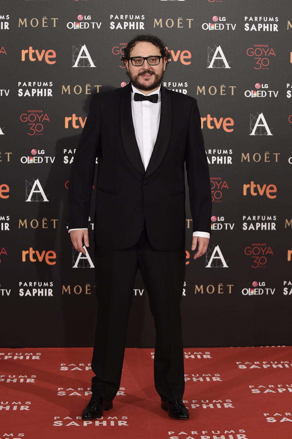 Dani de la Torre en la alfombra roja de los Premios Goya 2016