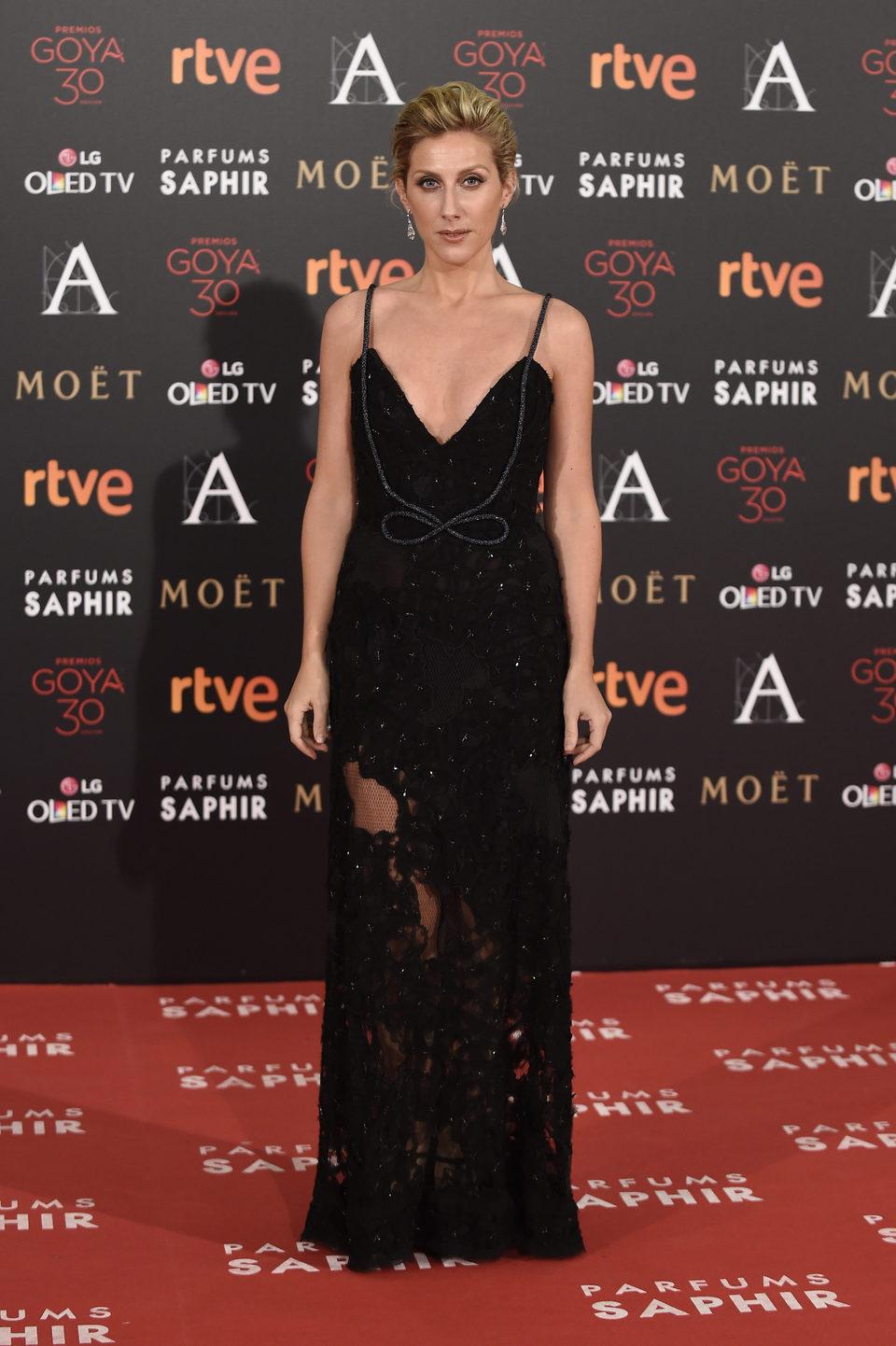 Cecilia Freire en la alfombra roja de los Premios Goya 2016