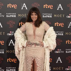 Yolanda Ramos en la alfombra roja de los Premios Goya 2016
