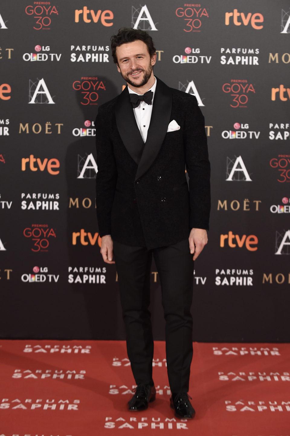 Diego Martín en la alfombra roja de los Premios Goya 2016