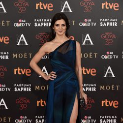 Clara Lago en la alfombra roja de los Premios Goya 2016