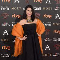 Ana Fernández en la alfombra roja de los Premios Goya 2016