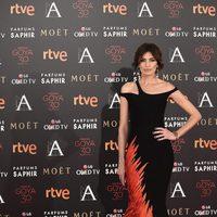 Nieves Alvarez en la alfombra roja de los Premios Goya 2016