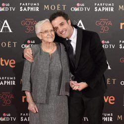 Daniel Guzmán y Antonia Guzmán en la alfombra roja de los Premios Goya 2016