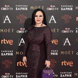 Alaska en la alfombra roja de los Premios Goya 2016