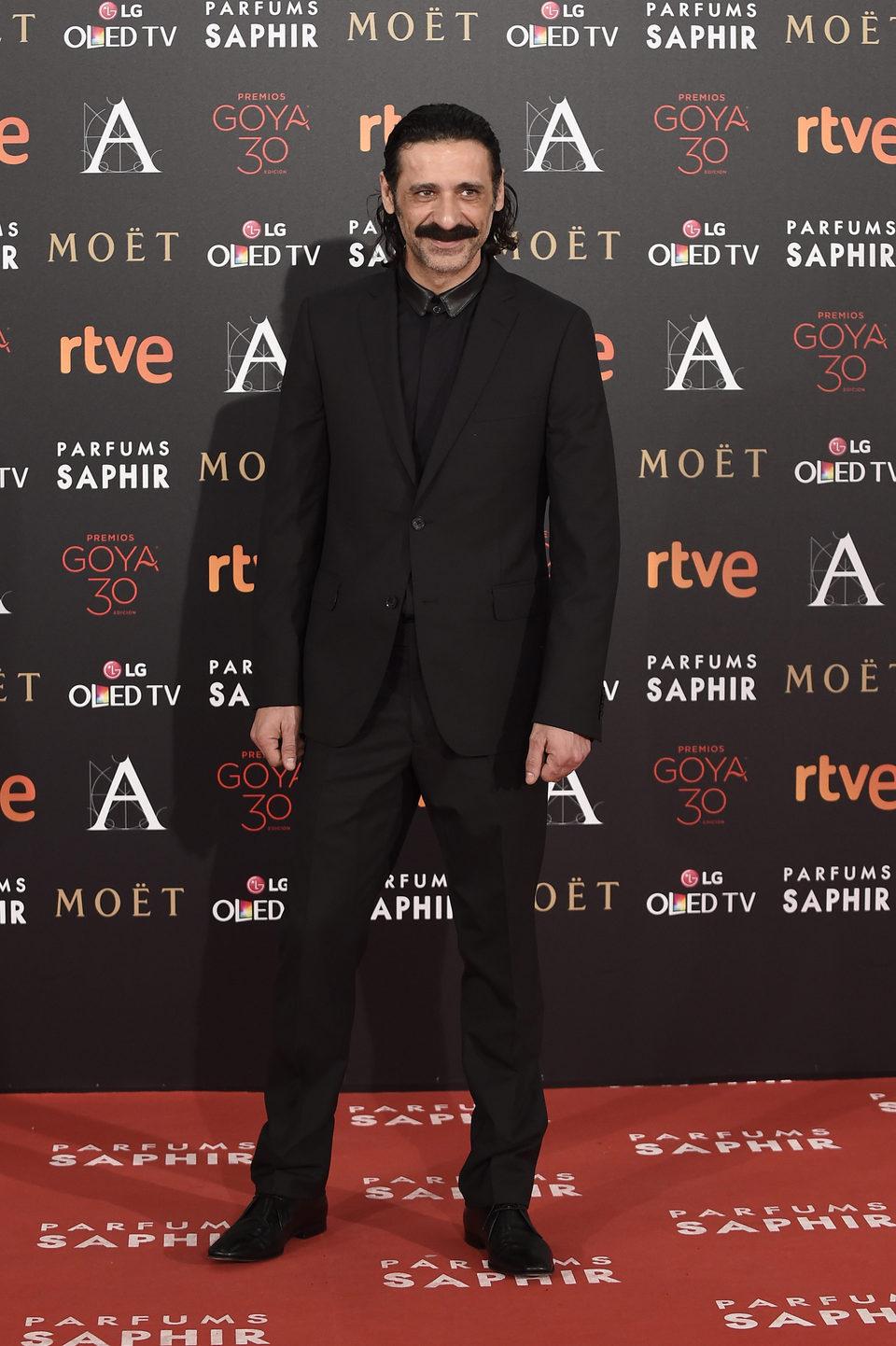 Nacho Fresneda en la alfombra roja de los Premios Goya 2016