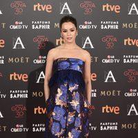 Veronica Sánchez en la alfombra roja de los Premios Goya 2016
