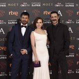 El reparto de 'El ministerio del tiempo' en la alfombra roja de los Premios Goya 2016