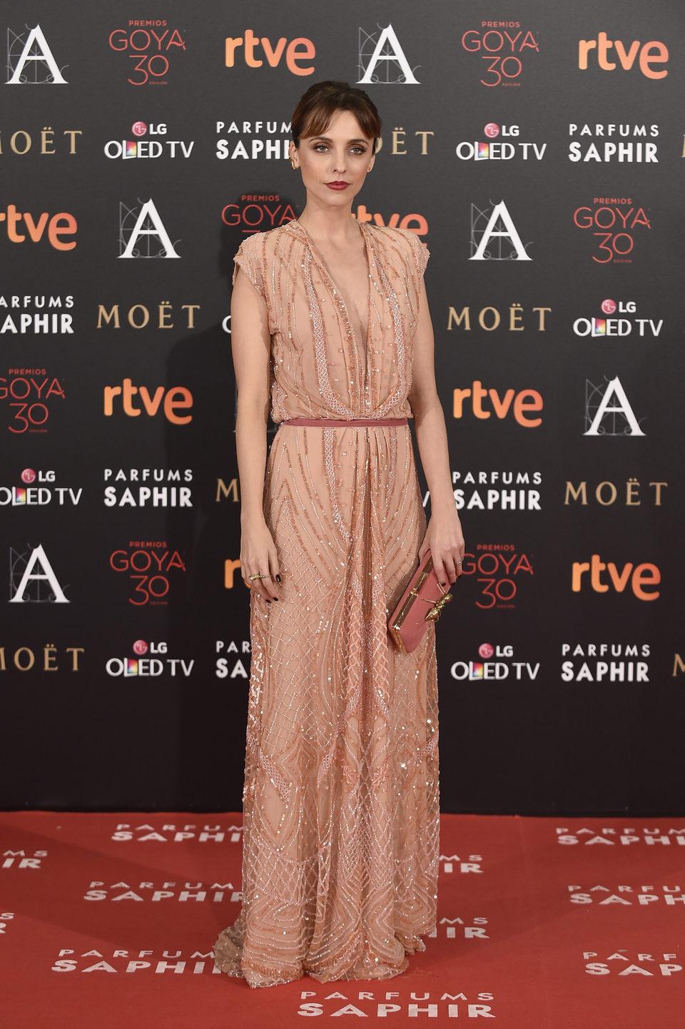 Leticia Dolera en la alfombra roja de los Premios Goya 2016