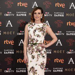 Natalia de Molina en la alfombra roja de los Premios Goya 2016