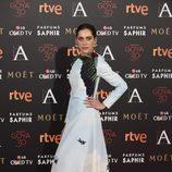 María León en la alfombra roja de los Premios Goya 2016