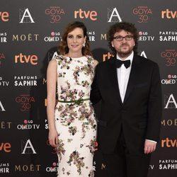 Juan Miguel del Castillo y Natalia de Molina en la alfombra roja de los Premios Goya