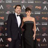 Penélope Cruz y Javier Bardem en la alfombra roja de los Premios Goya 2016