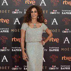 Rosario Flores en la alfombra roja de los Premios Goya 2016
