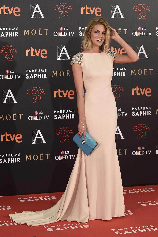 Amaia Salamanca en la alfombra roja de los Premios Goya 2016