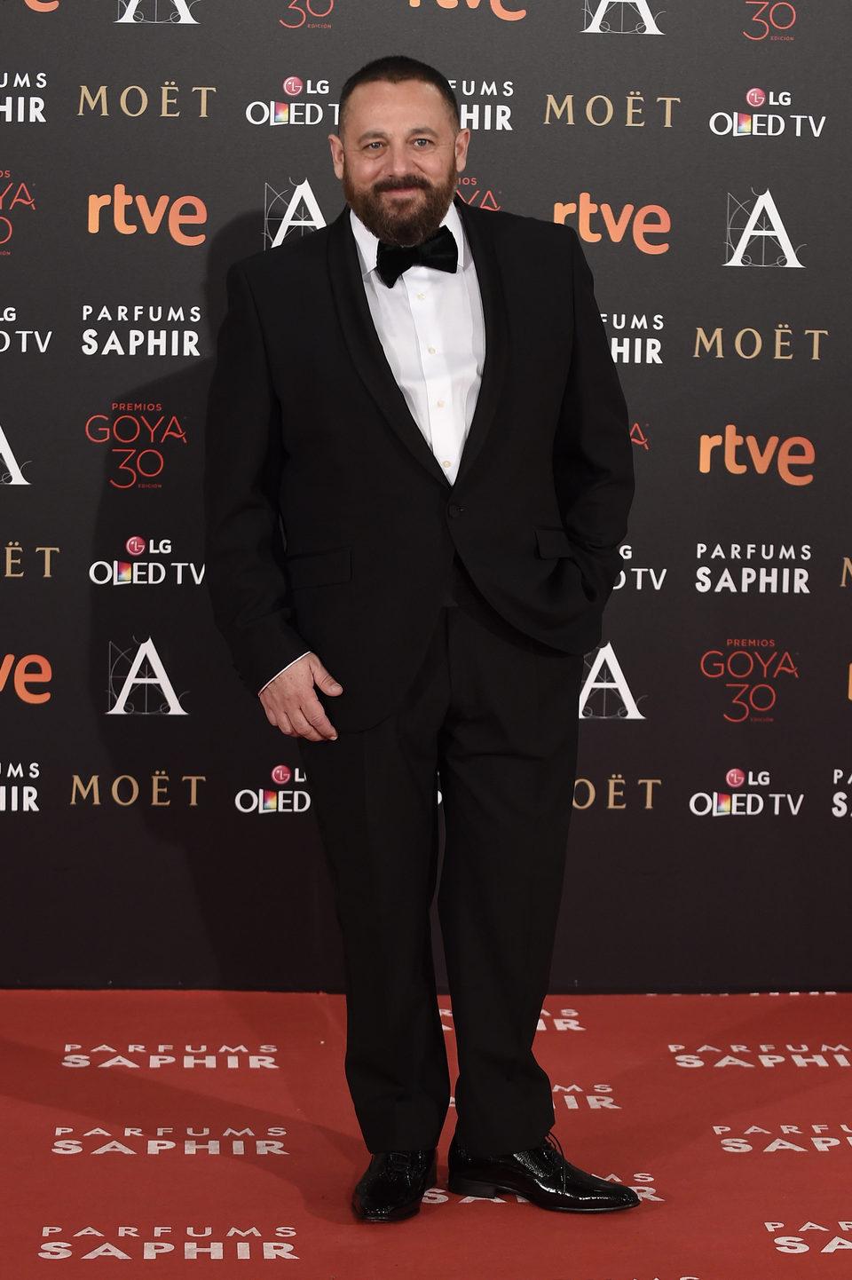 Pepón Nieto en la alfombra roja de los Premios Goya 2016
