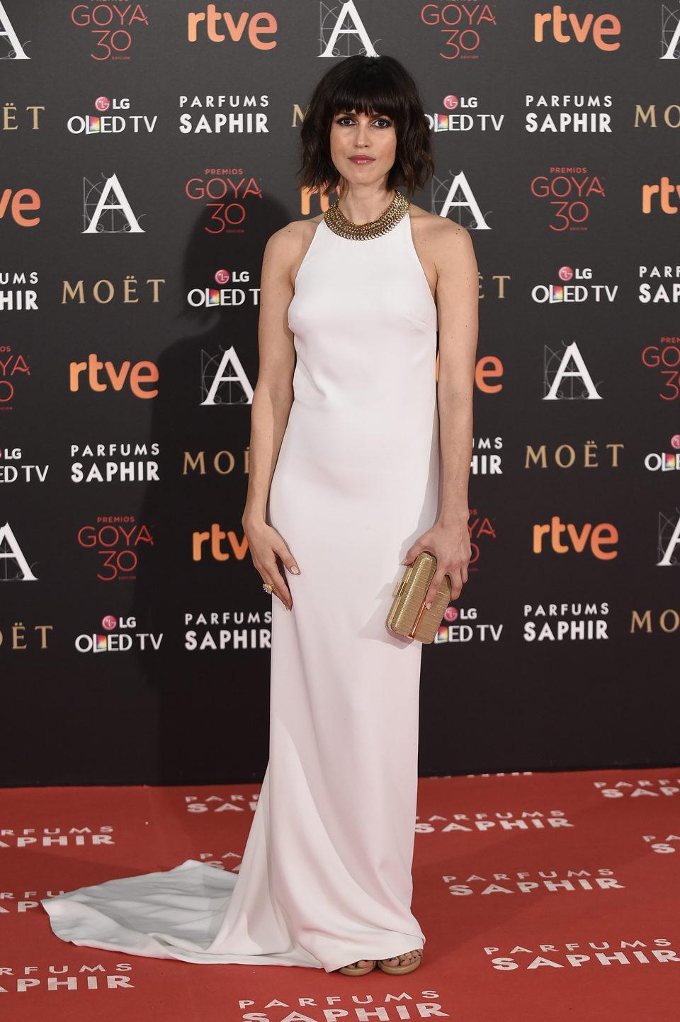 Nerea Barros en la alfombra roja de los Premios Goya 2016