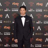 Alberto Jo Lee en la alfombra roja de los Premios Goya 2016