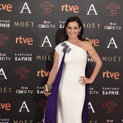 Belén López en la alfombra roja de los Premios Goya 2016