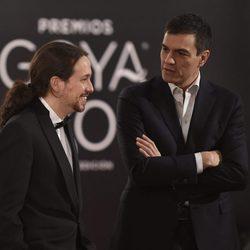 Pablo Iglesias y Pedro Sánchez en los Goya 2016