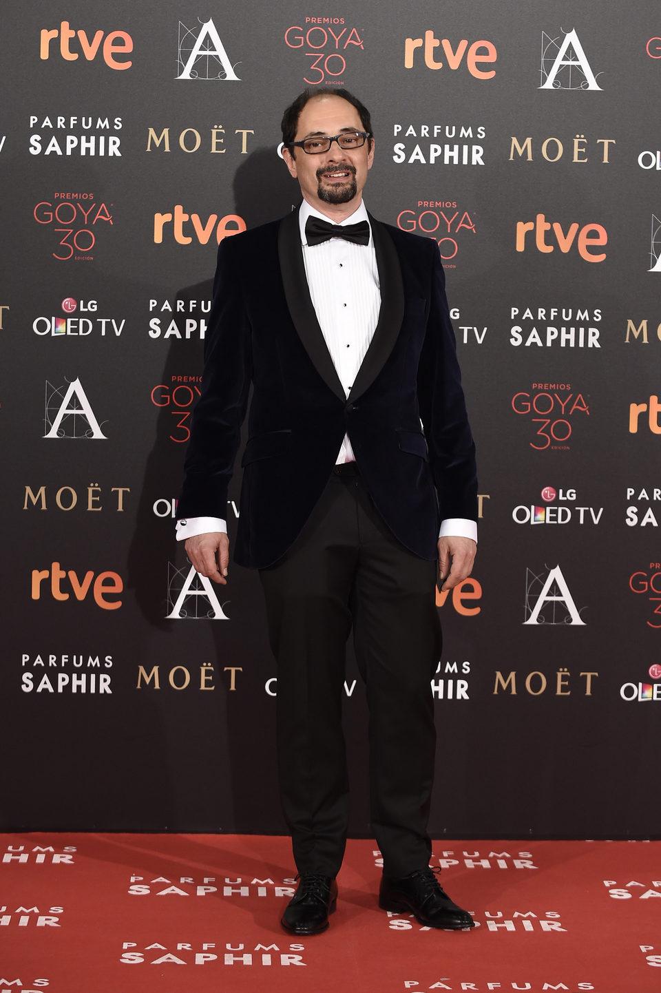 Jordi Sánchez en la alfombra roja de los Premios Goya 2016