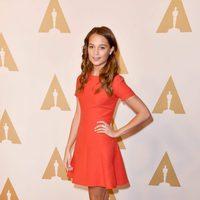 Alicia Vikander en la comida de nominados a los Oscar 2016