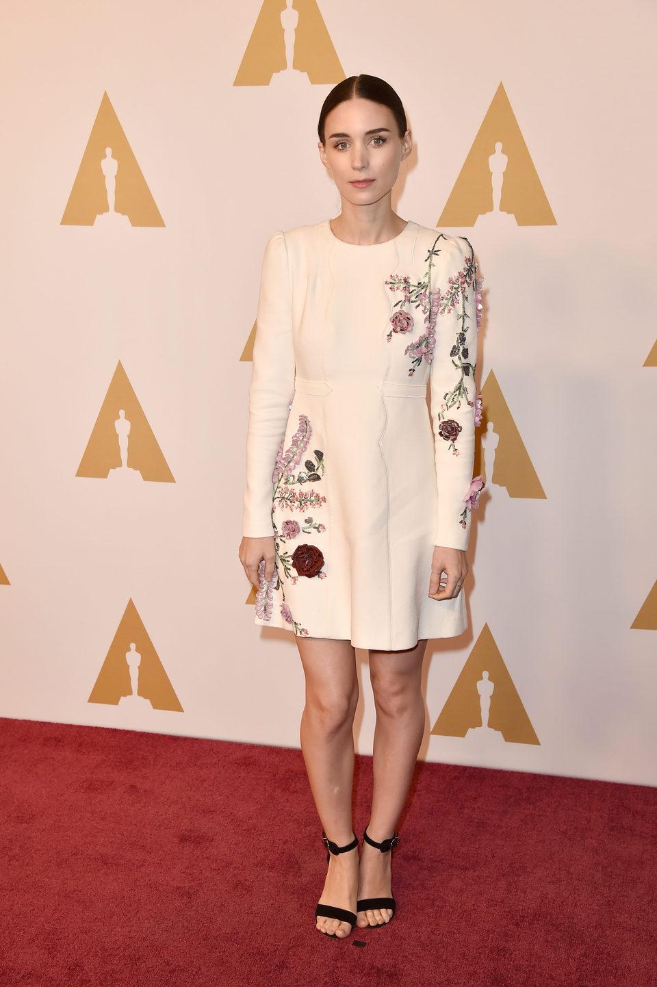 Rooney Mara en la comida de nominados a los Oscar 2016