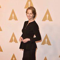 Charlotte Ramplin en la comida de nominados a los Oscar 2016