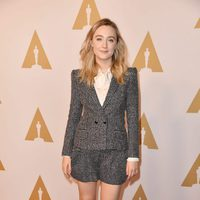 Saoirse Ronan en la comida de nominados a los Oscar 2016