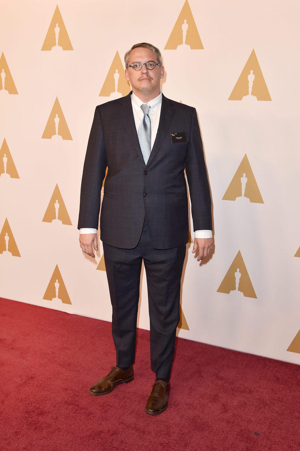 Adam McKay en la comida de nominados a los Oscar 2016