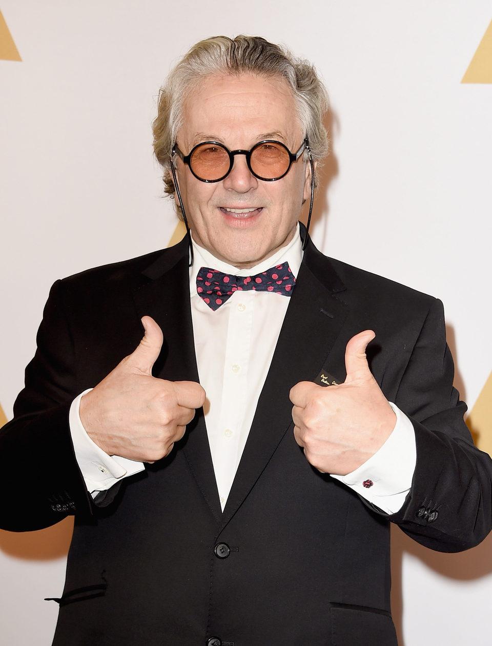 George Miller en la comida de nominados a los Oscar 2016
