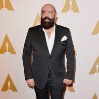 Paco Delgado en la comida de nominados a los Oscar 2016