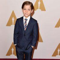 Jacob Tremblay en la comida de nominados a los Oscar 2016
