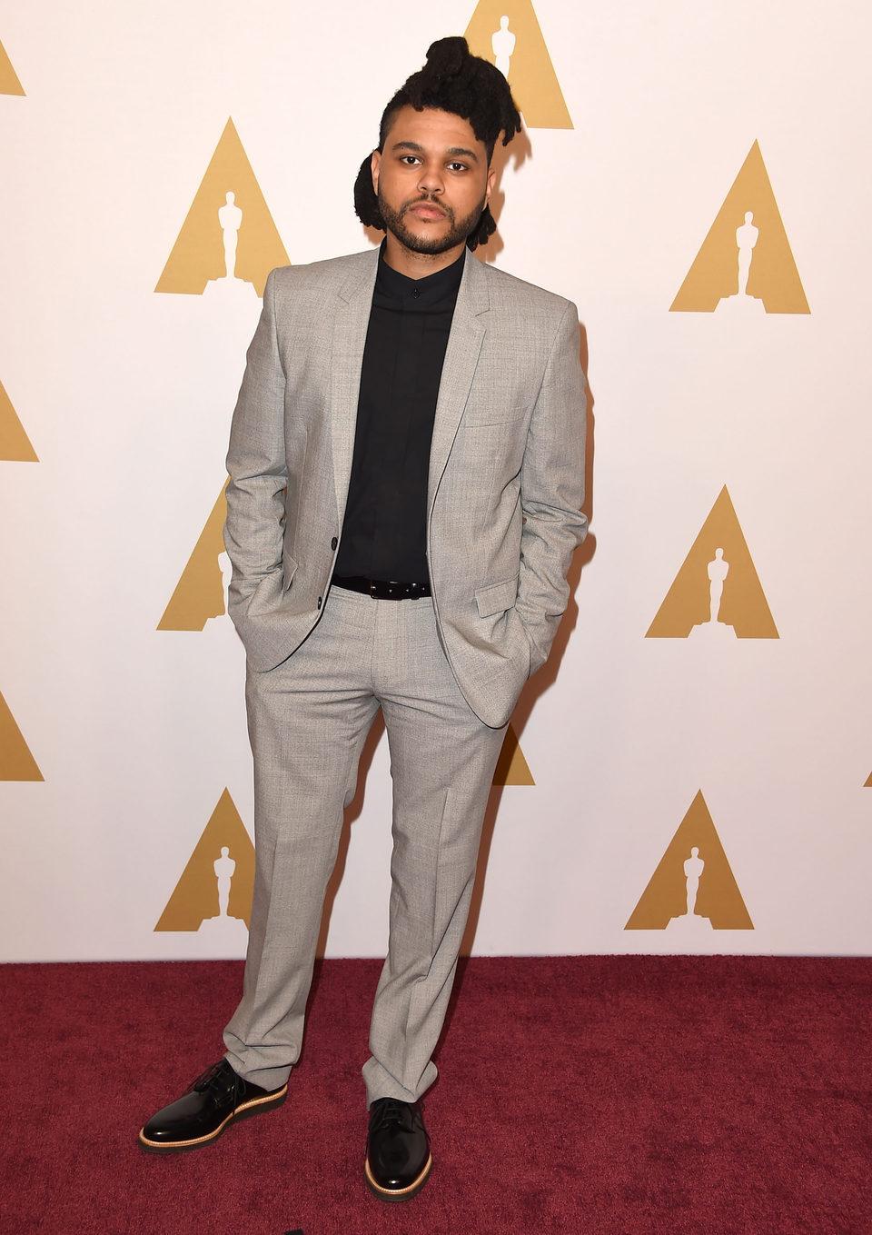The Weeknd en la comida de nominados a los Oscar 2016