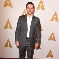 Matt Damon en la comida de nominados a los Oscar 2016