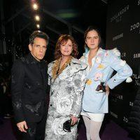 Ben Stiller, Susan Sarandon y su hijo en la premiere de 'Zoolander 2'