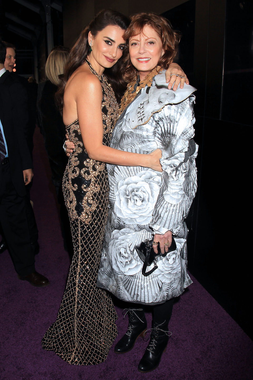 Penélope Cruz  y Susan Sarandon en la premiere de 'Zoolander 2' en Nueva York