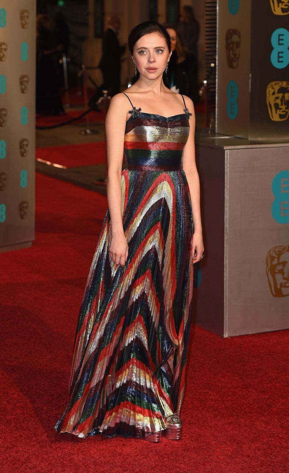 Bel Powley en la alfombra roja de los BAFTA Awards 2016