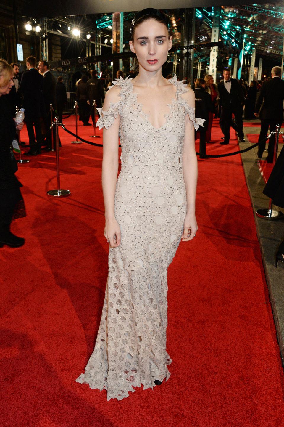 Rooney Mara en la alfombra roja de los BAFTA Awards 2016