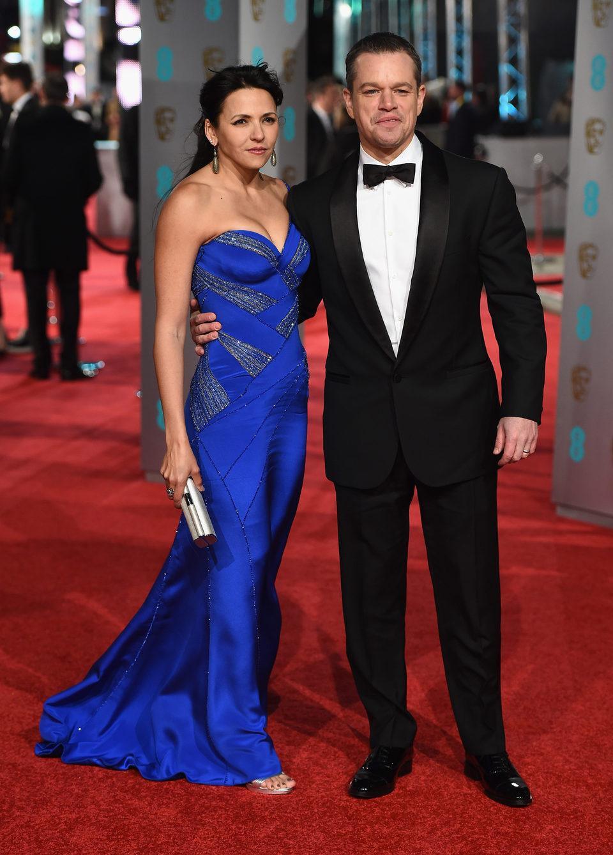 Matt Damon en la alfombra roja de los BAFTA Awards 2016